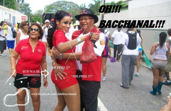 Feting is we Naaame, We doh Play! Photo courtesy Oh Bacchanal on Face Book.
