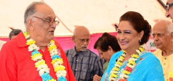 The dynamic duo: Sat Maharaj and Kamla Persad-Bissessar.
