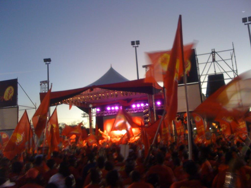 PNM Rally in Roxborough, Sunday (Jan 13, 2013) evening.